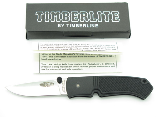 Vtg '90s Timberline USA Pat Pending Timberlite Neeley Lock Folding Pocket Knife