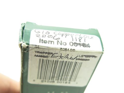 Case XX 101549 Copperlock 2006 Etch Orange G10 Folding Lockback Pocket Knife