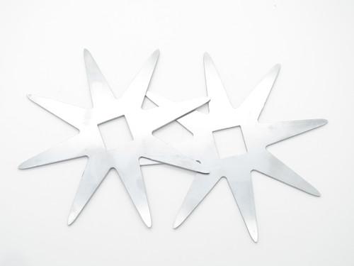 """Lot Of 6 Vintage Valor Tak Fukuta Large 5.25"""" Ninja Stainless Steel 8 Point Throwing Stars"""