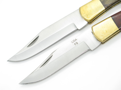 Lot Of 2- Proto USA 18545 Folding Hunter Lockback Knife Factory Second