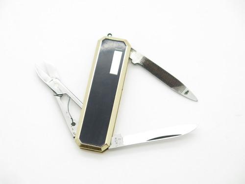 Vtg Parker Big Horn Seki Japan Black Handle Small Gentleman Folding Pocket Knife