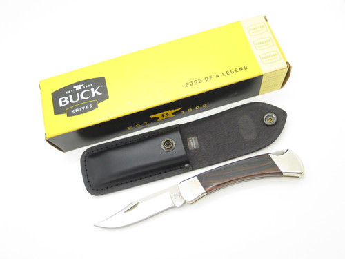 BCCI BUCK 110 110B042 D2 CUSTOM LIMITED BUILDOUT FOLDING HUNTER LOCKBACK KNIFE