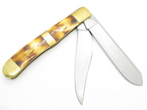 """Huge Ridge Runner Giant Jumbo 8.5"""" Closed 15"""" Open Trapper Bone Folding Knife"""