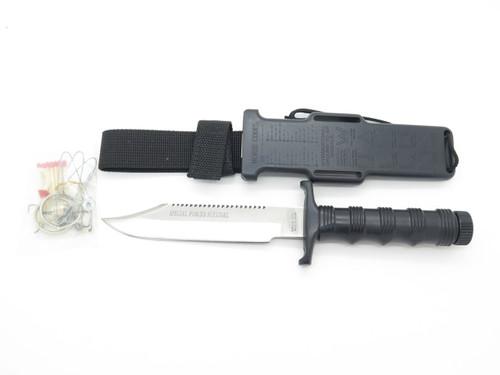 VTG RESQVIVAL SEKI JAPAN SPECIAL FORCE SURVIVAL EXPLORER RAMBO FIXED BOWIE KNIFE