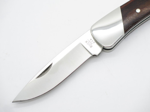 1992 BUCK 500 DUKE WOOD HANDLE FOLDING HUNTER LOCKBACK POCKET KNIFE - NO SHEATH