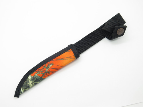 "Case XX Hunter Orange Camo Nylon Fixed 4.75"" Blade Hunting Knife Sheath"