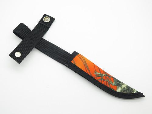 "CASE XX HUNTER ORANGE CAMO NYLON FIXED 4.75"" BLADE HUNTING KNIFE SHEATH"