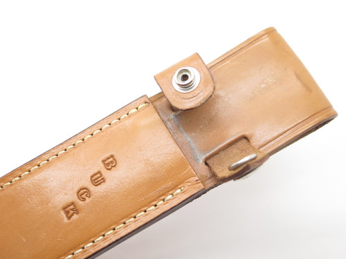 Vtg Buck Custom 120 S Stag General Natural Leather Fixed Blade Knife Sheath