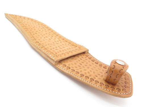 USA Custom Tooled Leather Sheath For Buck 904 Sub Hilt Fixed Blade Bowie Knife