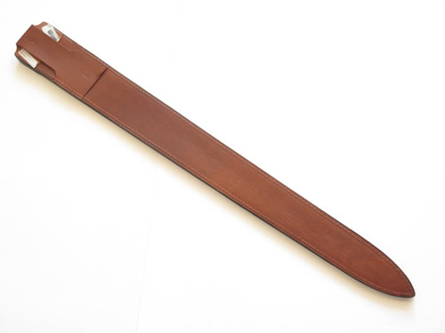 "Cas Hanwei Fixed 30.25"" Blade Long Sword Medieval Norman Leather Sheath"