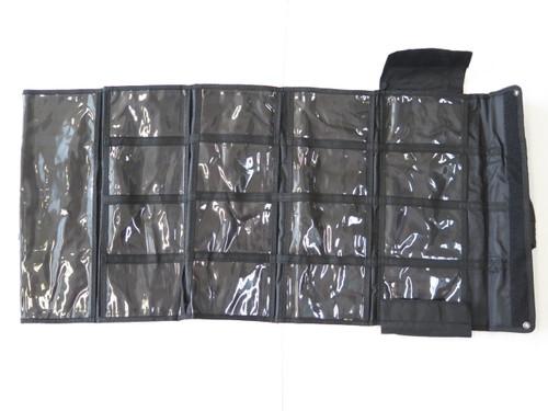 Timberline Black Nylon 17 Pocket Folding Knife Tool Roll Storage Display Case