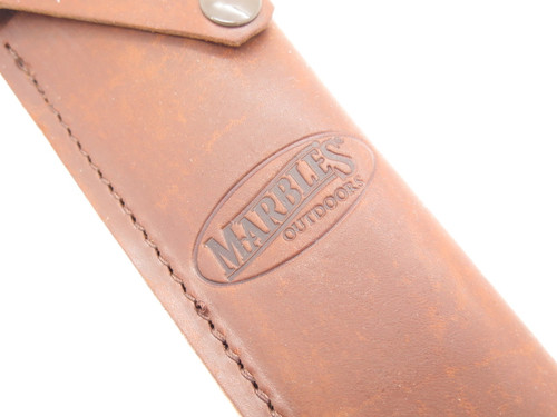 """Marbles Trailmaker Mountain Man Leather Bowie Fixed 10"""" Blade Knife Sheath"""