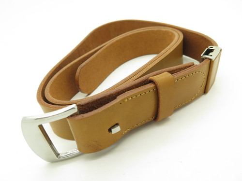 Vintage Seki Cut Japan Fixed Blade Belt Knife With Brown Leather Belt