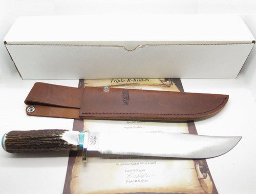 CUSTOM RRR LEROY REMER MARBLES TRAILMAKER ELK STAG LIMITED FIXED BOWIE KNIFE