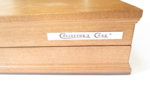 Vtg 1970s Case XX Collector Wood Box Fixed Folding Pocket Knife Storage Display