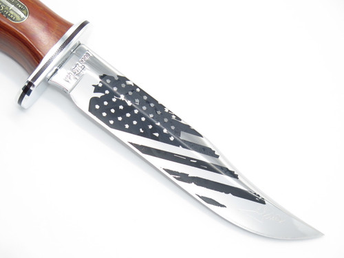 BUCK 119 75TH SPECIAL CUSTOM LIMITED OLD GLORY AMERICAN FLAG FIXED HUNTING KNIFE