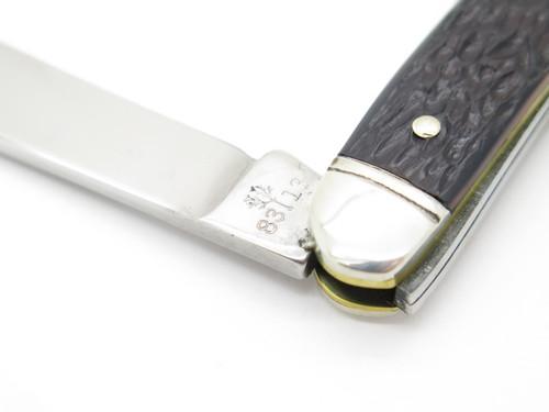 Vtg 1970s Boker USA Tree Brand 8313 3 Blade Whittler Folding Pocket Knife