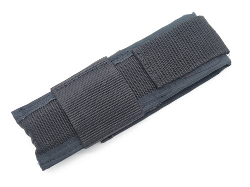 "Black Nylon 6"" Folding Tactical Pocket Knife Sheath Horizontal Belt Loop Carry"