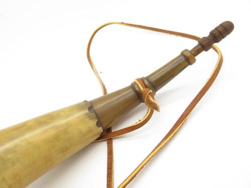 Handmade John Nelson Idaho 12.2 French Indian War Mountain Man Black Powder Horn