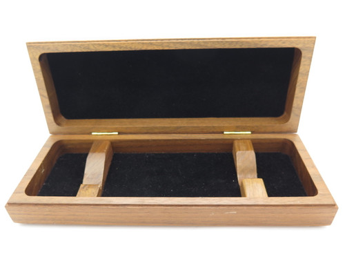 Buck 196 112 Walnut Wood Display Case Box for Fixed Blade Folding Pocket Knife