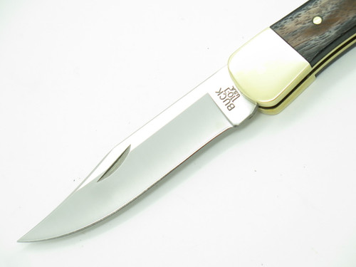 Buck 110 Folding Hunter Vintage Frame & New Blade Lockback Knife