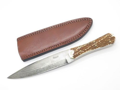 DEAN OLIVER 1095 HC HANDMADE USA ELK STAG MOUNTAIN MAN FIXED BLADE HUNTING KNIFE