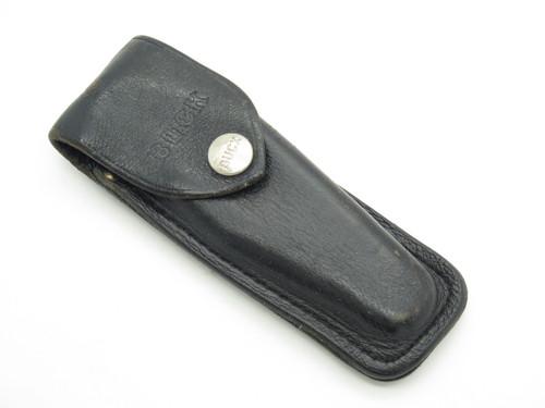 Vtg Buck 317 Trailblazer Folding Hunter Hunting Knife Leather Sheath