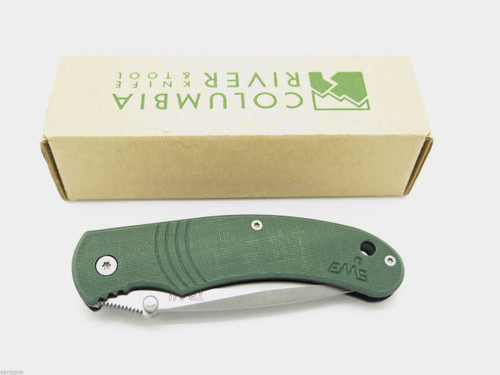 CRKT 6032 GREEN CONTRAIL EMS SMALL FOLDING POCKET KNIFE COLUMBIA RIVER TOOL