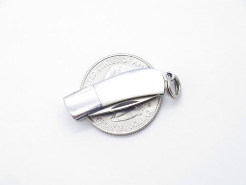 Inagaki Seki Japan Miniature Keychain Mini Jewelry MOP Pearl Folding Neck Knife