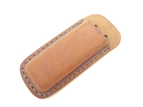 Remington Made in USA Leather Folding Pocket Lockback Knife Sheath Case