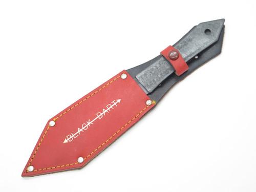 Vtg Black Dart Seki Japan Throwing Knife Fixed Blade Mamba Dagger & Sheath
