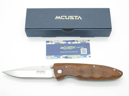 Mcusta Seki Japan Basic Quince Wood & VG-10 Linerlock Folding Pocket Knife