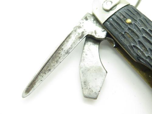 Vtg Imperial Prov 1946-1956 Folding Camp Boy Scout Pocket Knife Bottle Opener