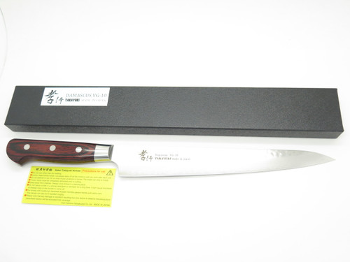 SAKAI TAKAYUKI JAPAN SUJIHIKI 240mm VG10 HAMMERED DAMASCUS KITCHEN CHEF KNIFE