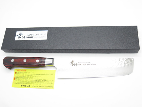 SAKAI TAKAYUKI JAPAN NAKIRI 160mm VG10 HAMMERED DAMASCUS KITCHEN CHEF KNIFE