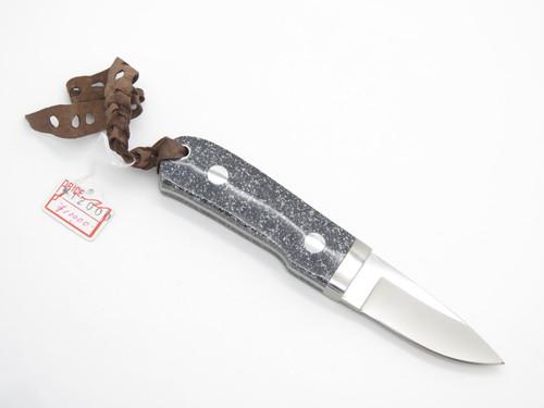 Vintage G. Sakai Seki Japan Small Corian Fixed Blade Hunting Knife And Sheath