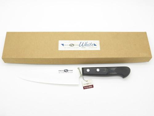 Kyocera TW-156 Japan Twin Fish White Ceramic Kitchen Cutlery Chef Knife