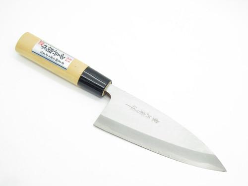 Vintage Jyubei Seki Japan 135mm Deba Sushi Chef Fish Kitchen Cutlery Knife