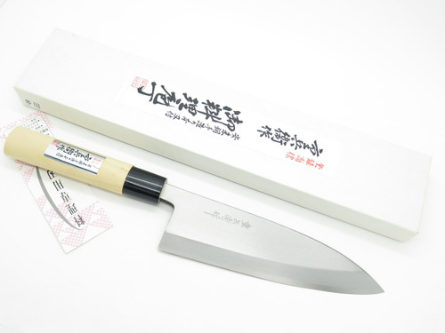 Vintage Jyubei Seki Japan 180mm Deba Sushi Chef Fish Kitchen Cutlery Knife