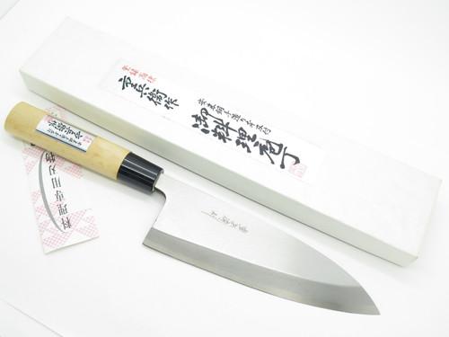 VINTAGE JYUBEI SEKI JAPAN 180mm HEAVY DEBA SUSHI CHEF FISH KITCHEN CUTLERY KNIFE