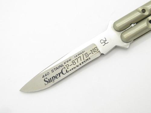 "Vintage 1980s HR Seki Japan Custom Handmade 3.5"" Folding Balisong Butterfly Knife"