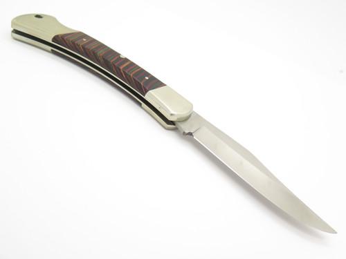 """Vtg Parker Seizo Imai Seki Japan 5"""" Folding Hunter Lockback Pocket Knife"""