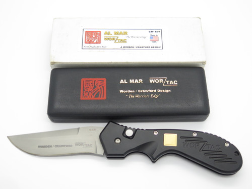 AL MAR WOR-TAC AUTOMATIC WORDEN CRAWFORD USA 154CM LARGE AUTO FOLDING TACTICAL POCKET KNIFE