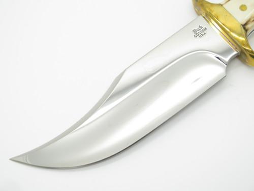 Vtg 1988 Buck 905 Mountain Man Custom Shop Sambar Stag Fixed Bowie Hunting Knife