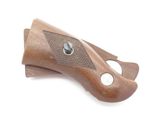 Vintage Ruger Original Checkered Walnut Wood Pistol Handle Grip Part