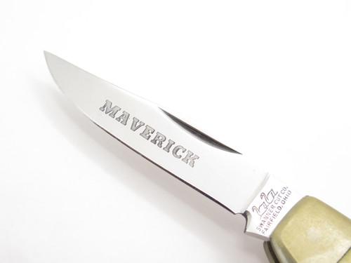 Vtg Swanner Ohio Parker Maverick Seki Japan Stag Longhorn Folding Pocket Knife