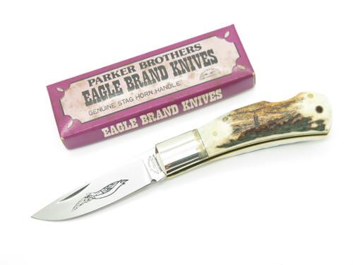 Vtg 78-82 Parker Brothers Eagle K126-D Imai Seki Japan Stag Folding Pocket Knife