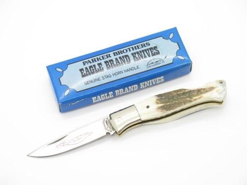 Vtg 1978-82 Parker Brothers Eagle K133 Imai Seki Japan Stag Folding Pocket Knife