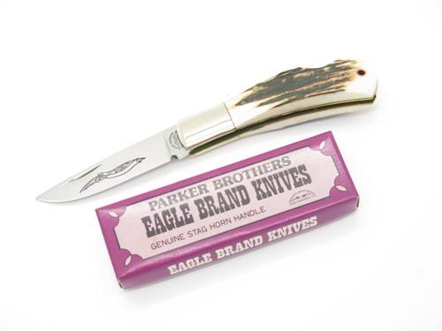 Vtg 1978-82 Parker Brothers Eagle K126 Imai Seki Japan Stag Folding Pocket Knife