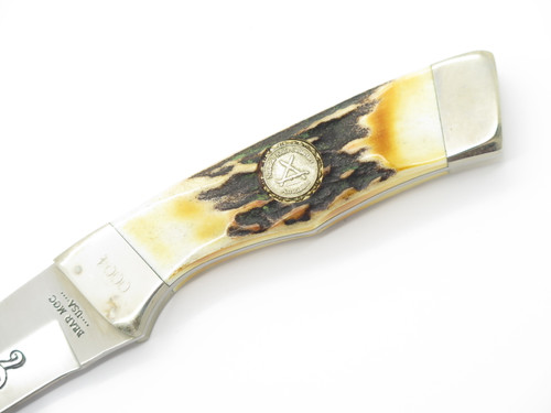 1992 BEAR CUTLERY USA NKCA COLLECTOR CLUB STAG FIXED BLADE HUNTING KNIFE